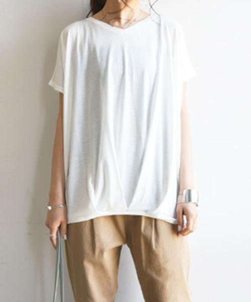 and it_(アンドイット)の「裾タックワイドプルオーバー(Tシャツ/カットソー)」|その他3