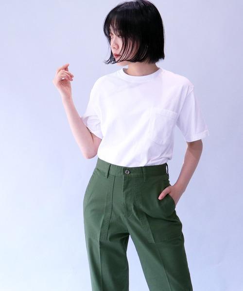 【 Goodwear / グッドウェア 】 # 7.2ozクルーネックポケットTシャツ  ボックスシルエット