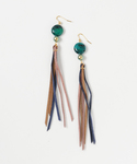 TONE SELECT GOODS | lulugiraffe/ Seabeads suede tassel pierced earrings(イヤリング(両耳用))