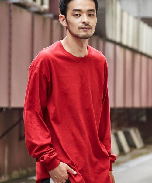 ギルダン ビッグシルエット USAオーバーサイズ ロングスリーブTシャツ