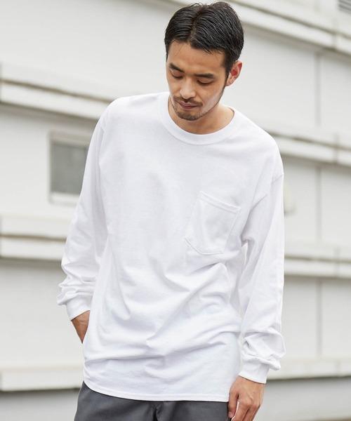 ギルダン ビッグシルエット USAオーバーサイズ ロングスリーブTシャツ 無地T トップス Tシャツ