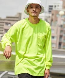 ギルダン ビッグシルエット USAオーバーサイズ ロングスリーブTシャツグリーン系その他2