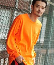 ギルダン ビッグシルエット USAオーバーサイズ ロングスリーブTシャツオレンジ系その他2