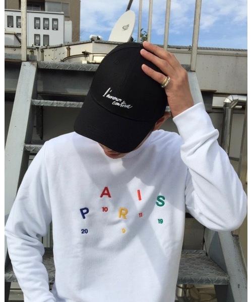 MAISON HONORE(メゾンオノレ)の「Black baseball cap lamour white(キャップ)」|ブラック