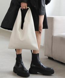 【chuclla】Triangle  soft leather bag  cha166アイボリー