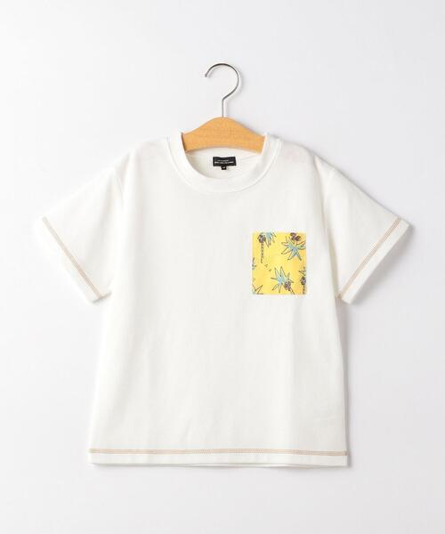 【ジュニア】ヤシの木ポケット Tシャツ