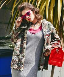 HYS LIGHTNING刺繍 ミリタリーシャツジャケット