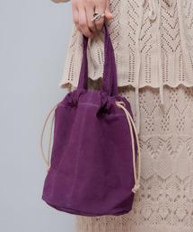 CIAOPANIC(チャオパニック)のスウェード巾着バッグ(ハンドバッグ)