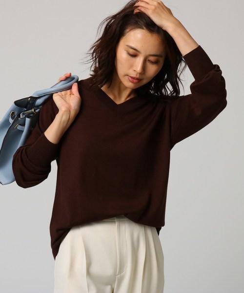 100%の保証 [L]シルクウールカシミヤVネックニット(ニット/セーター)|UNTITLED(アンタイトル)のファッション通販, GARNIER(ガルニエ):f0726e4b --- ulasuga-guggen.de