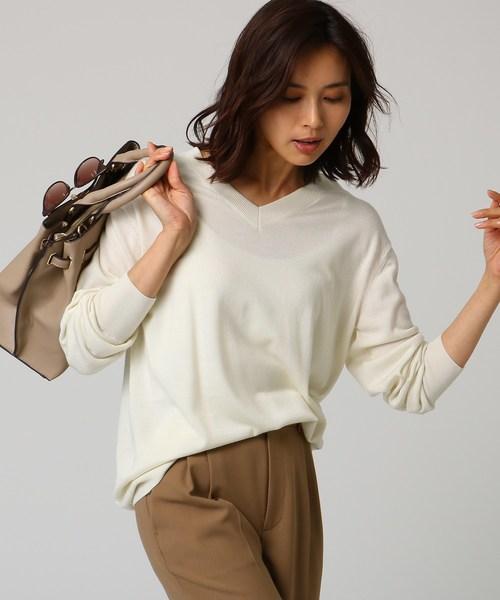 数量は多 [L]シルクウールカシミヤVネックニット(ニット/セーター)|UNTITLED(アンタイトル)のファッション通販, シワチョウ:1379501e --- 5613dcaibao.eu.org