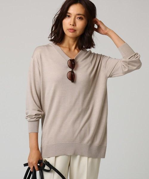 好評 [L]シルクウールカシミヤVネックニット(ニット/セーター)|UNTITLED(アンタイトル)のファッション通販, いい家具ダイレクト:616c55ba --- ulasuga-guggen.de