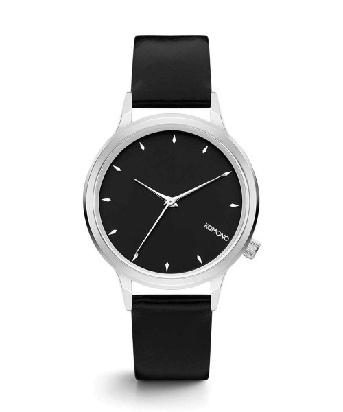 KOMONO.(コモノ)の「「KOMONO コモノ」腕時計 LEXI レキシー(アナログ腕時計)」|ブラック×シルバー