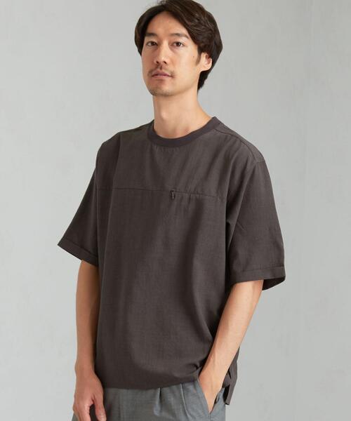 CM ルミレット シーム ポケット クルーネック Tシャツ < 機能性生地 / 吸水速乾 >