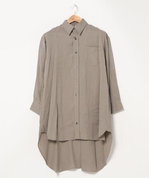 【 Allumer / アリュメール 】Tencel Long Shirt 8170304‥