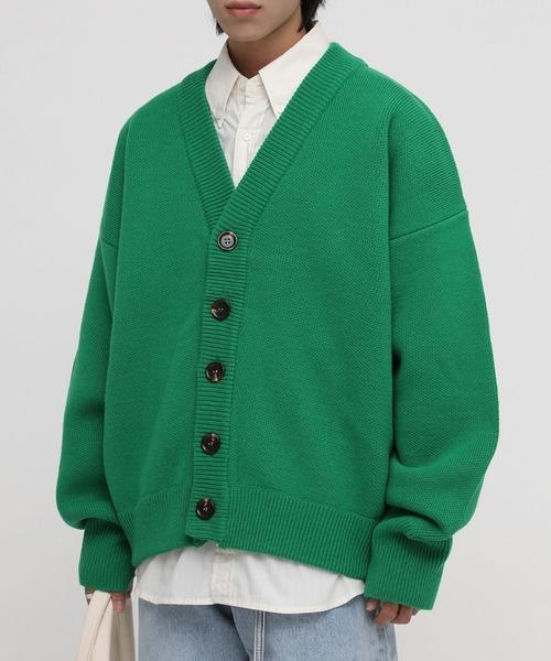 【M.P Studios】【2021AW Newカラー】Wool blend oversized  cardigan  KS1719