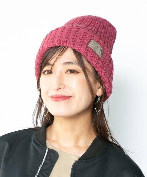 14+(イチヨンプラス)の「イタリア糸タグ付ニット帽 / knitcap(ニットキャップ/ビーニー)」 ピンク