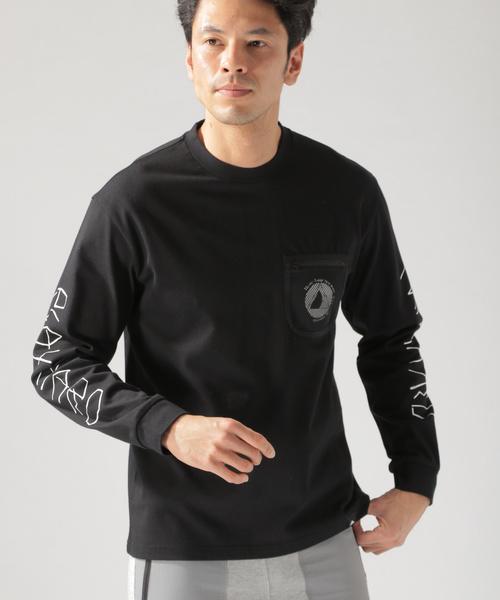 アイスジェイドソデプリントL/S Tシャツ