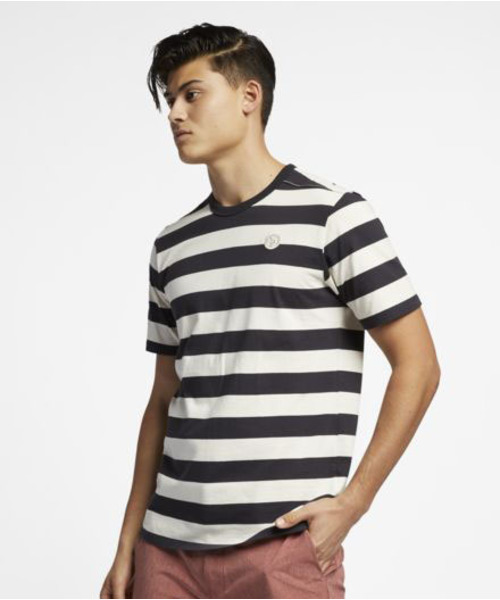 M HRLY CUSTOM STRIPED TOP SS