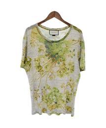 fc32bf83efda GUCCI(グッチ)の古着「フラワープリント クルーネック 半袖Tシャツ カットソー(