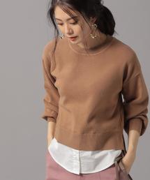 Andemiu(アンデミュウ)のシャツドッキングニット856945(ニット/セーター)