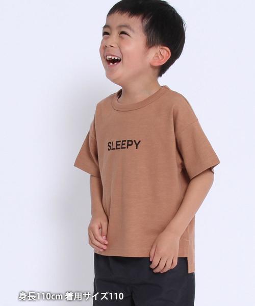 【coen キッズ / ジュニア】I THINK ロゴプリントTシャツ(ロゴT)