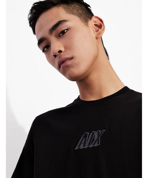 【A|Xアルマーニ エクスチェンジ】A|Xロゴ 半袖クルーネックTシャツ/SLIM