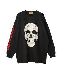 SKULL HEAD オーバーサイズTシャツブラック
