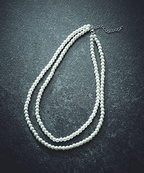 TONE SELECT GOODS(トーンセレクトグッズ)の「6mmパール2連ネックレス(ネックレス)」|ホワイト
