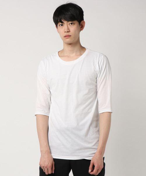 ベロアロングTシャツ×5分袖Tシャツ アンサンブル NKY