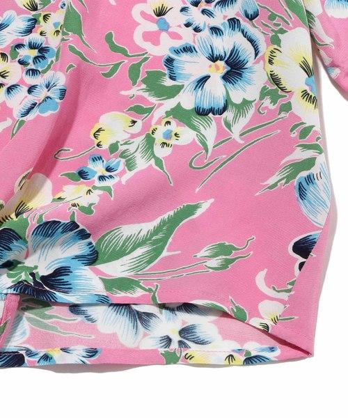 オープンカラーシャツ ROMANTIC FLORAL SACHET PINK