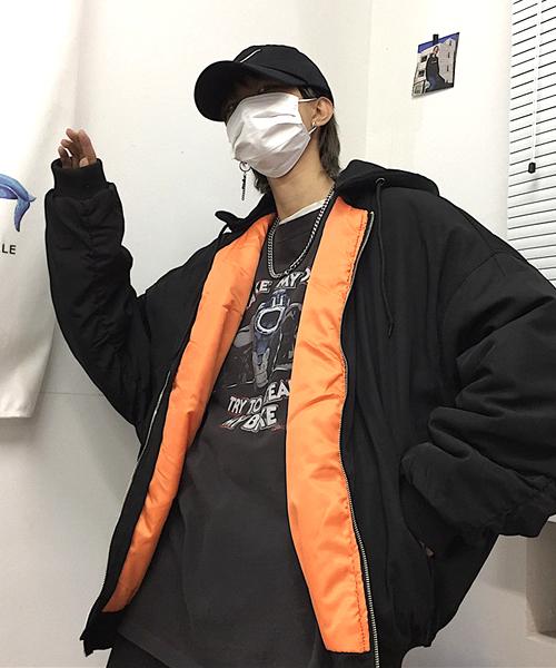 【act】ビックシルエットMA-1