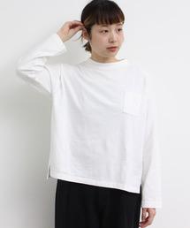 PAR ICI(パーリッシィ)のノイルコットン ポケット付きBIGカットソー(Tシャツ/カットソー)