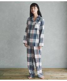 PEACH JOHN(ピーチジョン)の【真冬も暖かい、両面起毛コットンフランネルの前開きパジャマセット】両面起毛フランネルシャツパジャマ(ルームウェア/パジャマ)