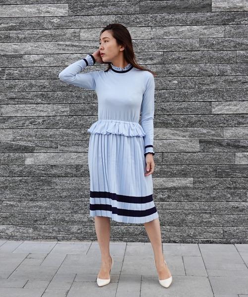 DOUBLE STANDARD CLOTHING(ダブルスタンダードクロージング)の「Sov. snowyニットワンピース(ワンピース)」|詳細画像