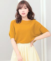 Nina(ニーナ)のゆるシルエット5分袖ライトニットトップス(Tシャツ/カットソー)