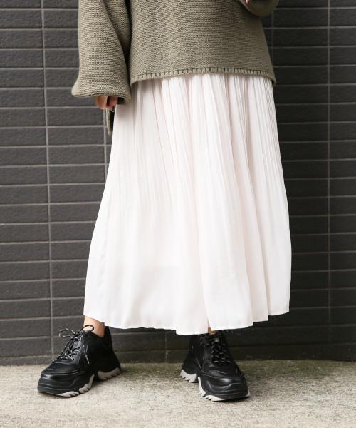 LOWRYS FARM(ローリーズファーム)の「プリーツスカート 815347(スカート)」|オフホワイト