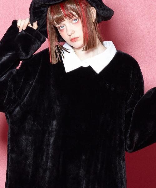手数料安い ショートファーシャツ襟カットソー -メガビッグ-(Tシャツ/カットソー) ankoROCK(アンコロック)のファッション通販, みやこや:dc16a2ae --- mailru.imp-v.ru