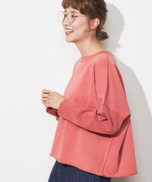 pual ce cin(ピュアルセシン)の【cotton】ピグメントクルーネックプルオーバー(Tシャツ/カットソー)