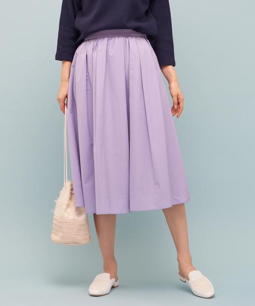 COLLAGE GALLARDAGALANTE(コラージュガリャルダガランテ)の「タフタスカート(スカート)」|パープル