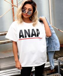 2ff3362af3b53 ANAP(アナップ)の「ANAPロゴミニ裏毛プリントTシシャツ(Tシャツ
