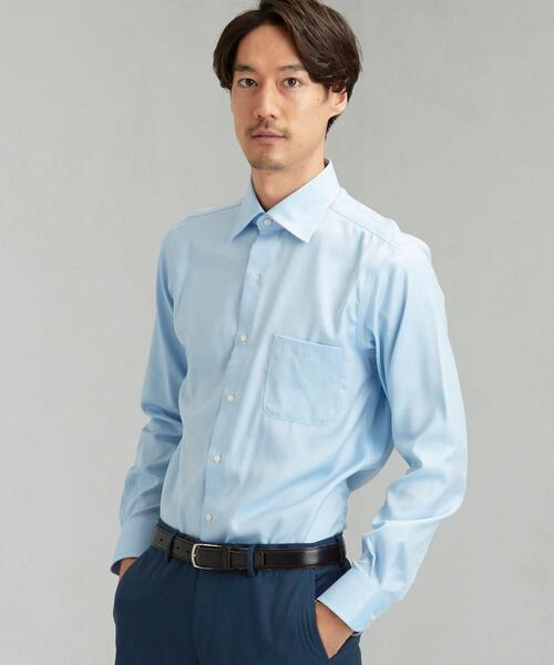 EASY IRON ロイヤルツイル ワイドカラー ドレスシャツ<機能性 / イージーアイロン>