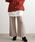 ViS(ビス)の「【WEB限定】【セットアップ対応】裾スカラップケーブルニットパンツ(パンツ)」|ベージュ