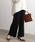 ViS(ビス)の「【WEB限定】【セットアップ対応】裾スカラップケーブルニットパンツ(パンツ)」|ネイビー