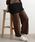 ViS(ビス)の「【WEB限定】【セットアップ対応】裾スカラップケーブルニットパンツ(パンツ)」|ブラウン