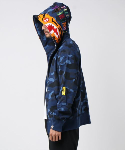 COLOR CAMO TIGER FULL ZIP HOODIE M