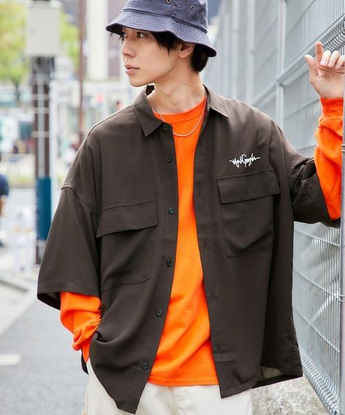 Mark Gonzales/マークゴンザレス 別注 リラックスドレープ レギュラーカラー CPOシャツ(1/2 sleeve)