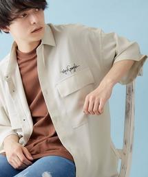Mark Gonzales/マークゴンザレス 別注 リラックスドレープ レギュラーカラー CPOシャツ(1/2 sleeve)ベージュ系その他