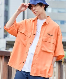 Mark Gonzales/マークゴンザレス 別注 リラックスドレープ レギュラーカラー CPOシャツ(1/2 sleeve)オレンジ系その他
