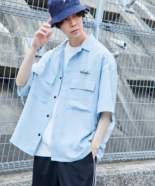 Mark Gonzales/マークゴンザレス 別注 リラックスドレープ レギュラーカラーシャツ 1/2 sleeve CPOシャツ