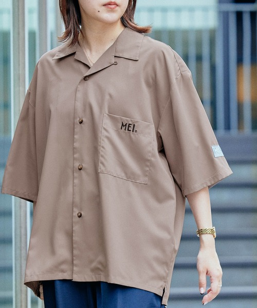 MEI/メイ MONO-MART別注 リラックスオープンカラー半袖シャツ